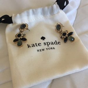 Kate spade gold and grey earrings